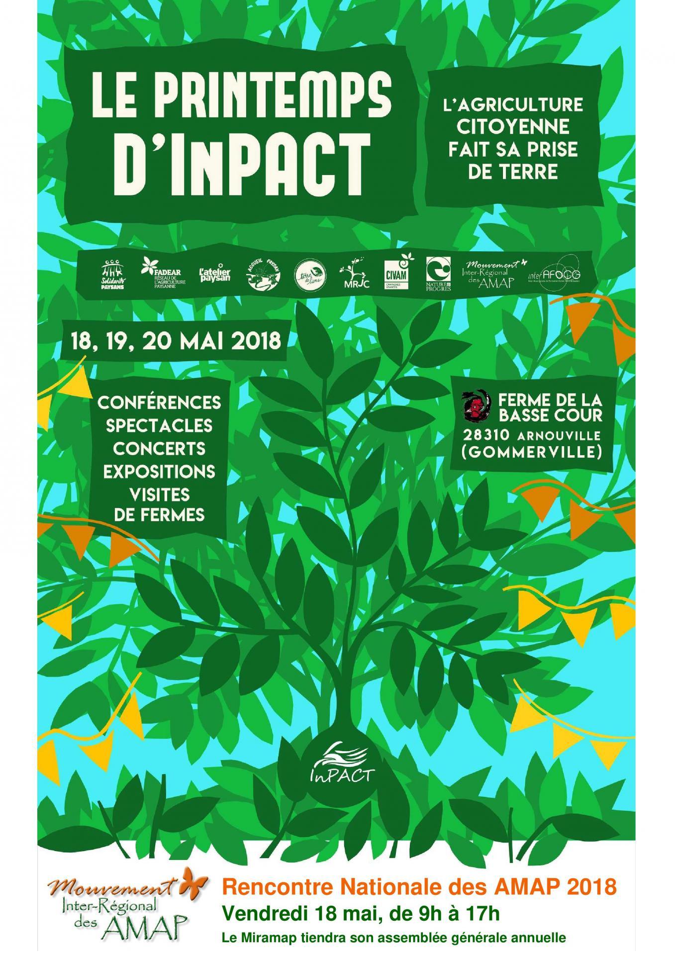 affiche Printemps d InPACT et rencontre nationale des AMAP 18 mai 2018 jpeg-1